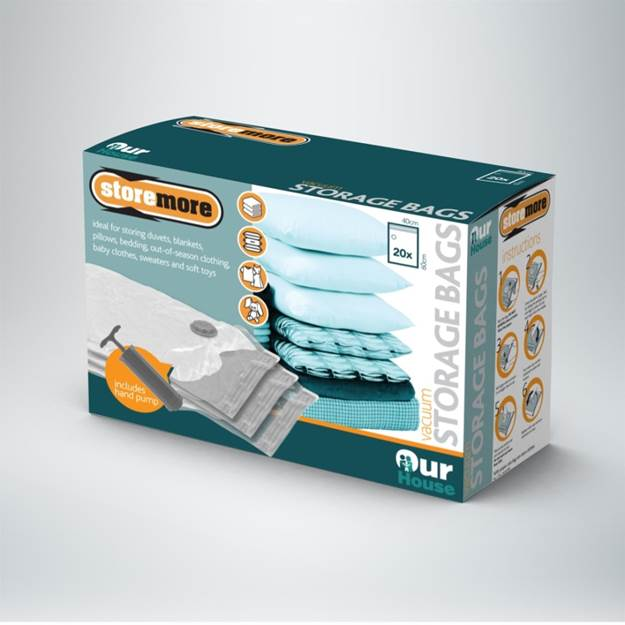 Vacuum Bag Set of 20 Pieces with Pump – Now Only £12.00