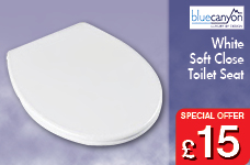 Plastic Soft Close Lift Off Toilet Seat - White – Now Only £15.00