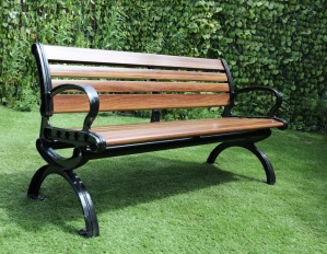 9 Slat Wood Effect Fibreglass Bench – Now Only £199.00