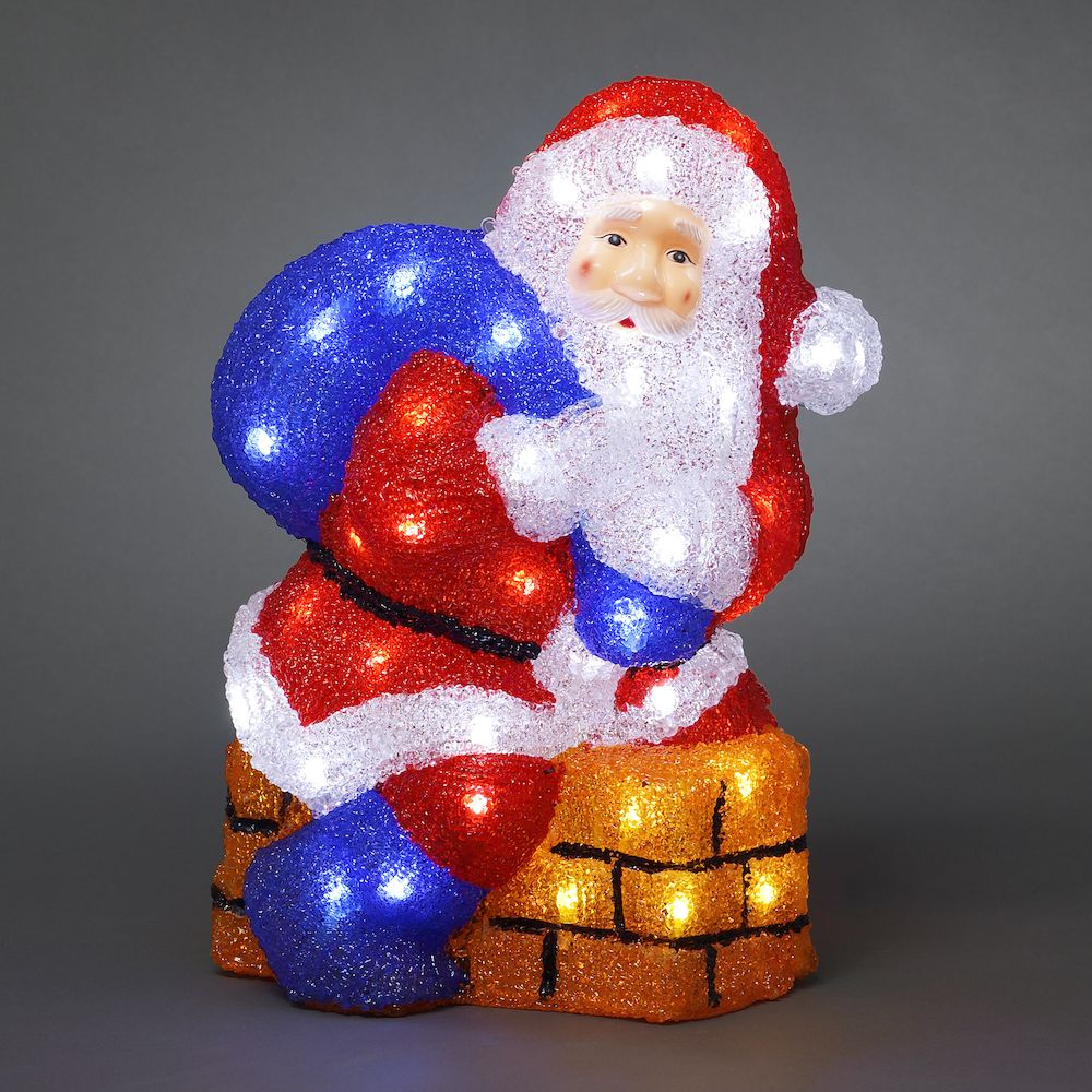 Santa and Chimney with 48 White LEDs – Now Only £35.00