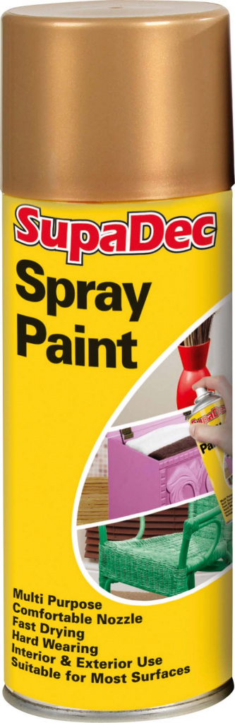 Spray Paint Gold 400ml  – Now Only £3.00