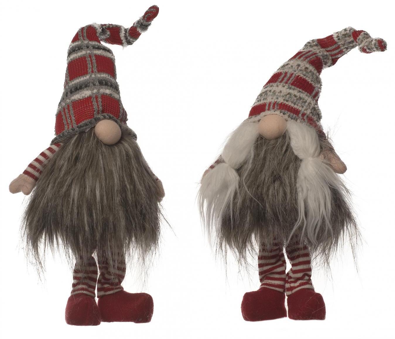 46cm 2 Assorted Tartan Hat Fur standing Gonks – Now Only £12.00