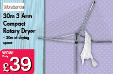 30M 3 Arm Compact Rotary Dryer  – Now Only £39.00