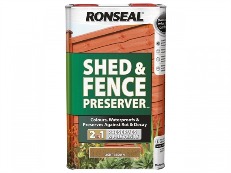 5 Litre Shed & Fence Preserver - Dark Brown  – Now Only £30.00