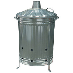 Galvanised Steel Incinerator - Large  – Now Only £19.00