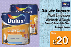 2.5 Litre Easycare Washable and Tough Matt Emulsion - Tranquil Dawn – Now Only £20.00