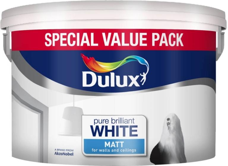 7 Litre Rich Matt Emulsion Special Value Pack - Pure Brilliant White – Now Only £15.00