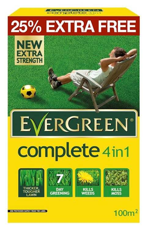 EverGreen 4 in 1 Lawn Care - 80m2 Plus 25% Free – Now Only £10.00