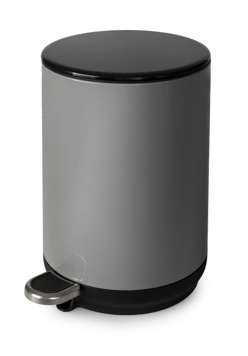 Natural Soft Close 5 Litre Pedal Bin - Grey – Now Only £12.00