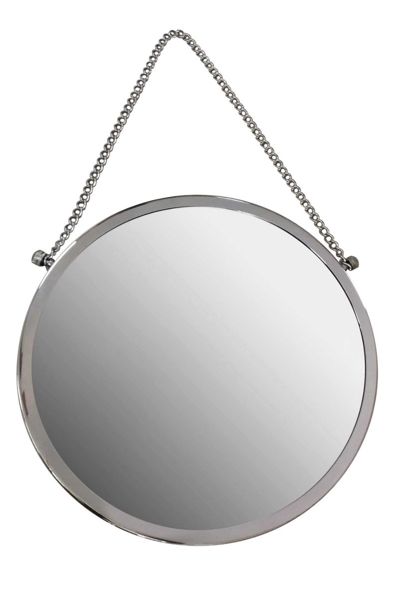 Round Chrome Mirror with Chain – Now Only £5.00