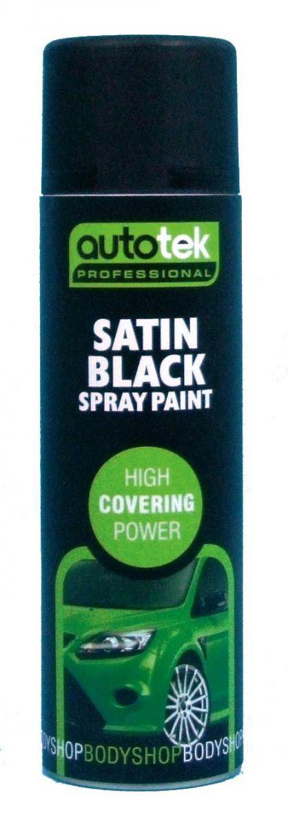 Autotek Satin Black Paint - 500ml  – Now Only £4.00