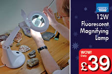 12W Fluorescent Magnifying Lamp – Now Only £39.00