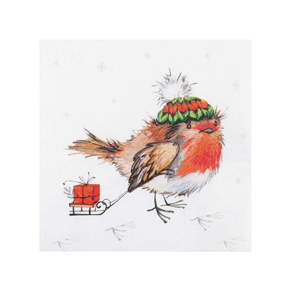 Robin and Sledge Napkin – Now Only £3.00