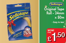 Original Tape Roll  - 24mm x 50m – Now Only £1.50