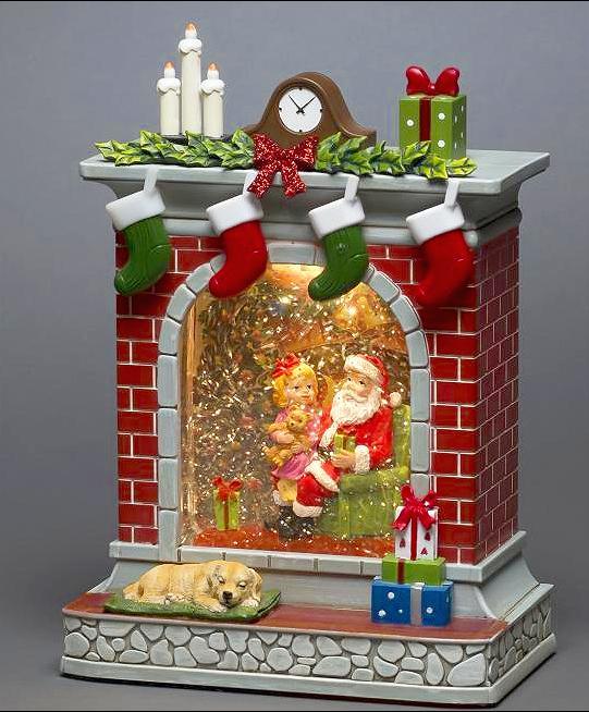 Santa Fireplace Scene Water Lantern – Now Only £35.00