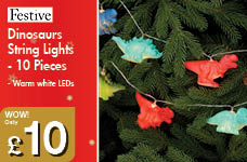 Dinosaurs String Lights - 10 Pieces – Now Only £10.00