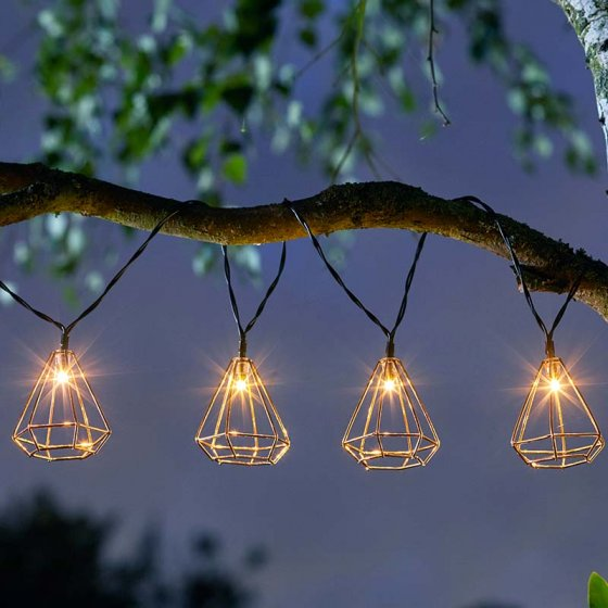 Geo LED Solar String Lights - Pack of 10 – Now Only £14.00