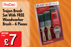Trojan Brush Set With FREE Woodworker Brush - 6 Pieces – Now Only £7.00