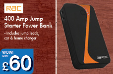 400 Amp Jump Starter Power Bank – Now Only £60.00