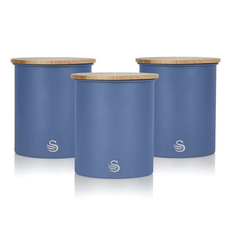 Set of 3 Storage Canisters - Blue – Now Only £25.00